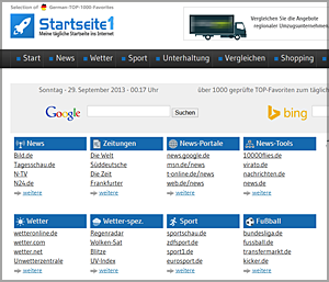 Screenshot Startseite1